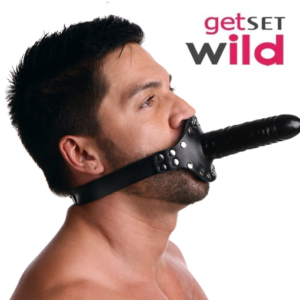 Strict Leather Ride Me Mouth Gag with Dildo