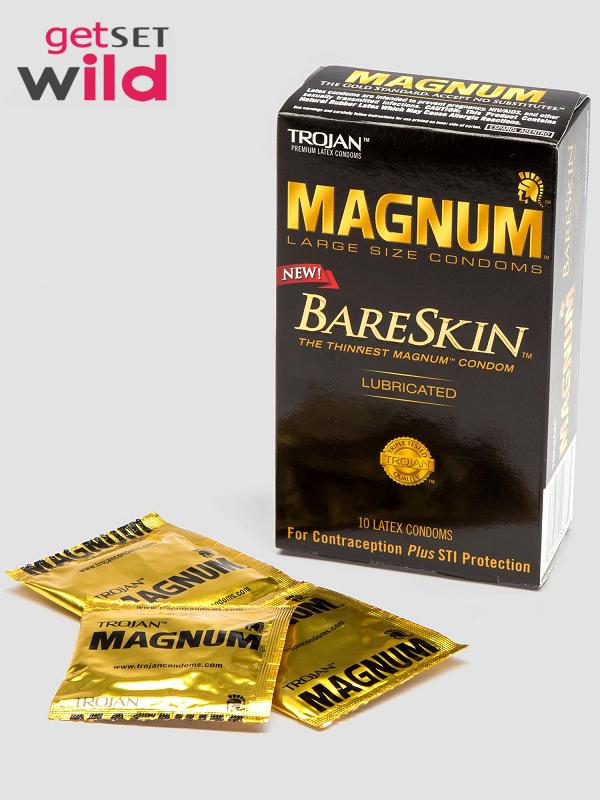 Trojan Magnum Large BareSkin Extra Thin Condoms (10 Count)